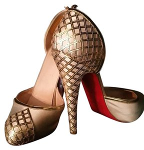 Christian Louboutin Limited Edition Gold Champagne Gold Pumps