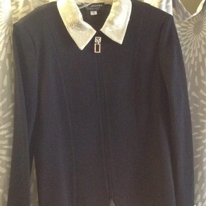St John Evening by Mary Gray Top Black with pale gold and silver metalic.