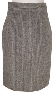 Prada Tweed Slim Fitted Skirt BROWN AND CREAM