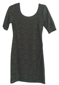 Banana Republic Lace Sheath Scoop Back Scoop Neck Bodycon Dress