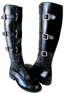 Vince Camuto Equestrian Leather Tall Boot Black Boots