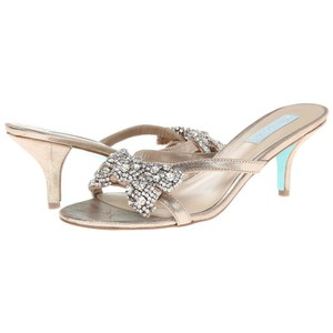 Betsey Johnson Kitten Heels Gold Sandals