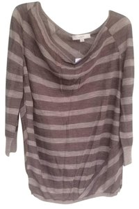 Ann Taylor LOFT Top Light brown and taupe
