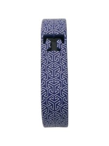 Tory Burch Tory Burch Navy and White Print Silicone Fit Bit Sz S Misc.