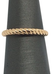 14K Solid Rose Gold Twist Band