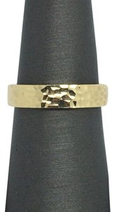 Other 14K Solid Yellow Gold Hammered Band