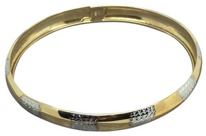 Other 10K Two-tone Diamond Cut Bangle