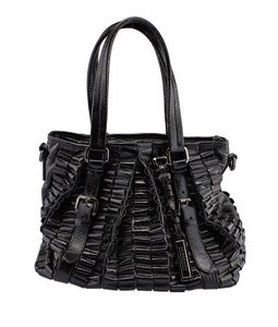 Burberry Lowry Patent Tote in Black
