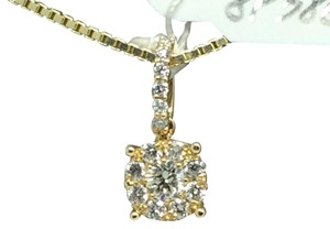 Other 14K Yellow Gold Natural/ Genuine Diamonds Cluster Pendant