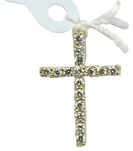 Other 14K Yellow Gold Natural Diamond Cross Pendant
