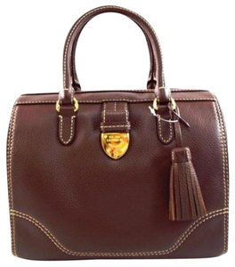 Ralph Lauren Leather Satchel in Brown