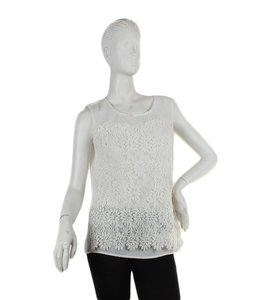 C. Luce Polyester Lace Top White