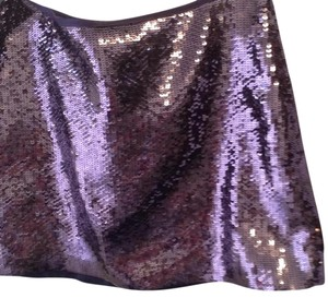 Theory Mini Skirt Purple sequines
