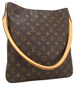 Louis Vuitton Leather Neverfull Damier Tote in Monogram