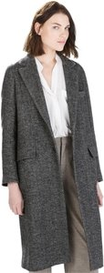Zara Wool Herringbone Jacket Trench Coat
