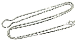 Other 14K White Gold ~0.86mm 18 Inches Box Chain