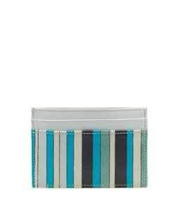 Emilio Pucci Emilio Pucci, Blue, Striped, Leather, Pvc, Card Holder