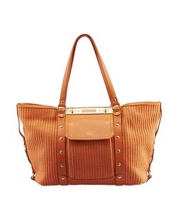Versace Raffia Tote in Orange