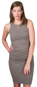 James Perse short dress Grey James Tank Runched on Tradesy