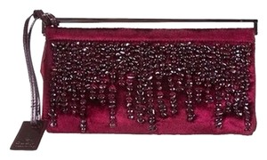 Gucci Red and Black Clutch