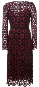 Dolce&Gabbana Floral Embroidered Lace Midi Dress