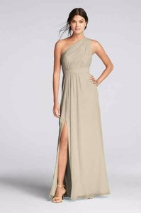 David's Bridal Champagne F18055 Dress