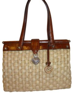 Brighton Refurbished Straw Wicker Hobo Bag