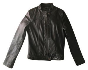 Bagatelle Scuba Front Leather Leather Jacket