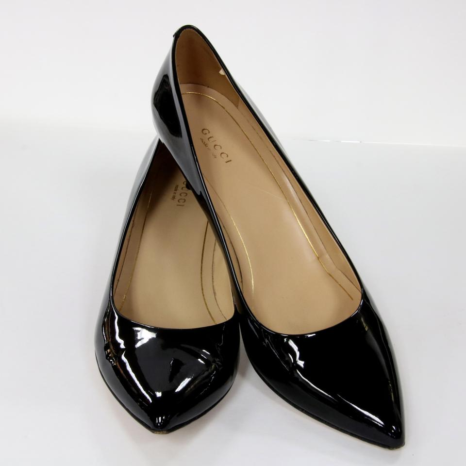 gucci black signature patent leather gloss high heel 40 pumps size us 10 regular m b tradesy. Black Bedroom Furniture Sets. Home Design Ideas