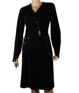 Chanel Chanel, Black, Wool, Sequined, Skirt, Suit