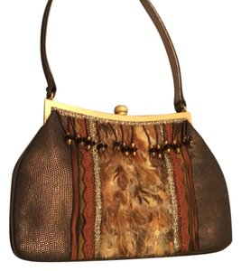 Spencer & Rutherford Purse Satchel in Browns Golds