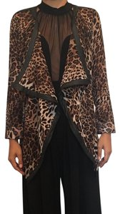 36 Points Print Shawl Cardigan Nasty Gal Leopard Blazer