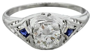 Other Antique Art Deco 18k Gold Diamond Sapphire Engagement Ring