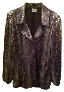 Chico's Leopard sequinned Blazer