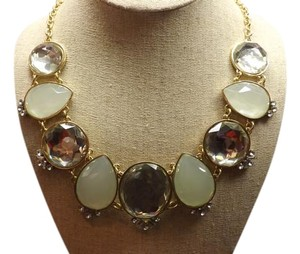 Chunky Necklace! Large Statement Piece! Round Teardrop Stones, Nice!