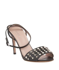Gucci Leather Studded Black Sandals
