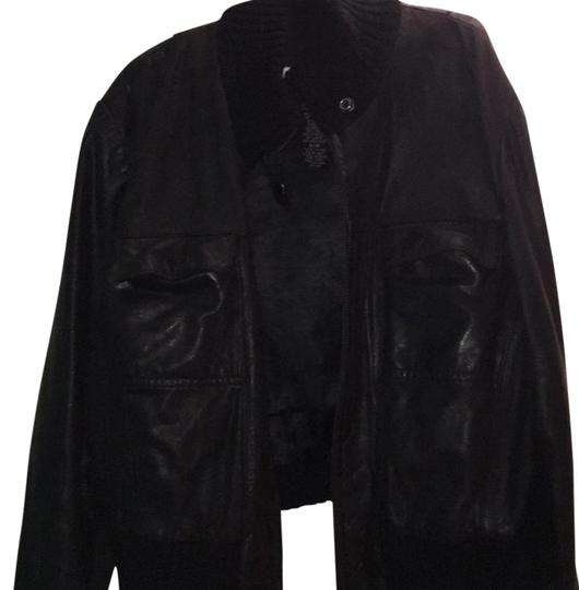 b3ccd96ca6b Guess Black On Black Leather Jacket - 54% Off Retail 60%OFF - kdb.co.ke