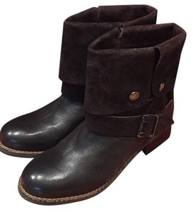 Clarks Dark brown leather and suede Boots