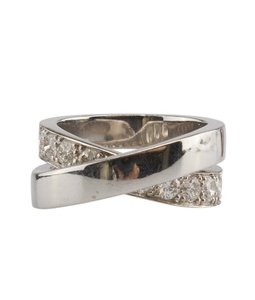 Cartier Cartier, Nouvelle, Vague, Paris, 18k, Diamond, 4mm, Ring, Size, 5.5, 85213