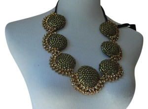 Vera Wang sunflower crystal quirky statement necklace $875 new