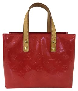 Louis Vuitton Lv Vernis Houston Tote Monogram Satchel in Red