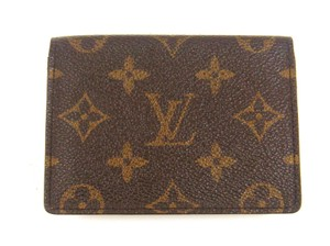 Louis Vuitton Porte 2 Cartes Monogram Slim Credit ID Wallet w/ Dustbag