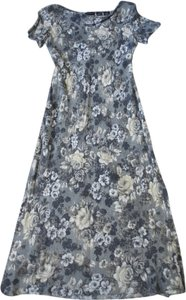 gray/beige floral Maxi Dress by Liz Claiborne
