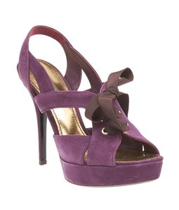 Louis Vuitton Suede Purple Sandals