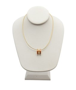 Hermès Hermes, H, Pop, Goldtone, Pendant, Necklace, 91664