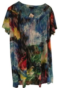 Hally and Milly Burnout Color Plus Size Tunic