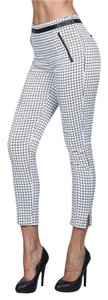 Other Skinny Pants White/black grid