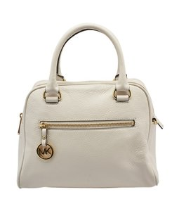Michael Kors Leather Satchel in White