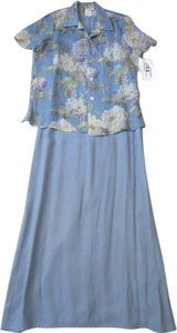light blue/floral Maxi Dress by JBS