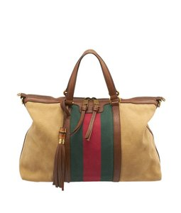 Gucci Raina Web Canvas Tote in Multi/Print